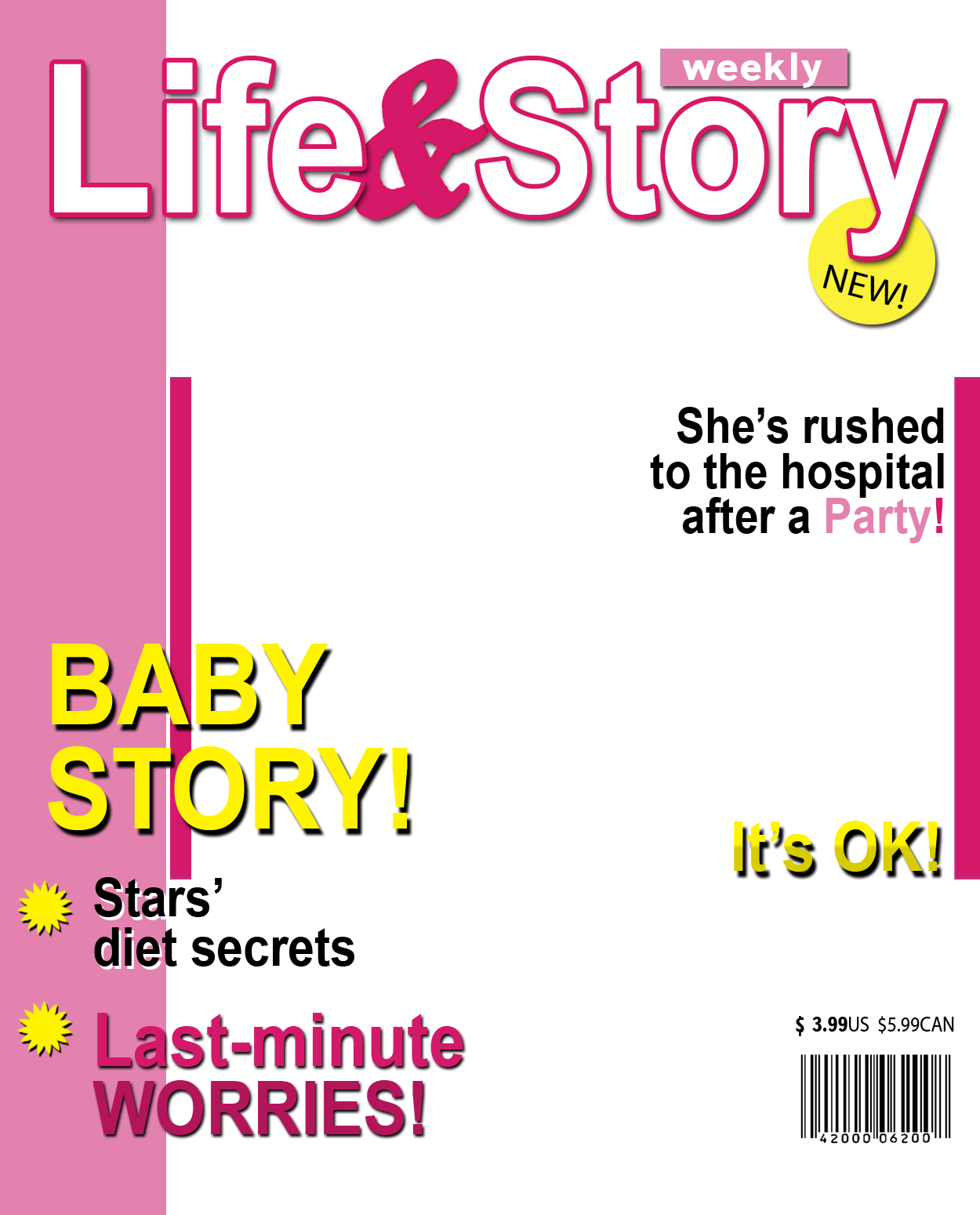 Fake magazine cover generator for Seventeen magazine cover template